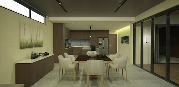 Dining Room/ Kitchen Modern Dining Room by DW Interiors Modern Wood Wood effect