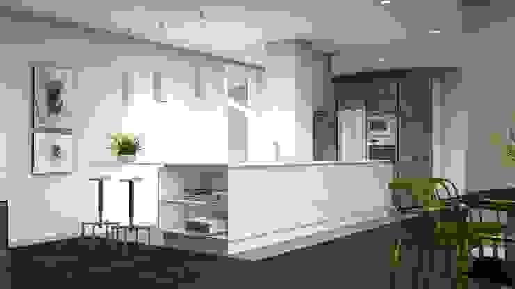 Apartamento en el centro de Sevilla. Interiorismo Conceptual estudio Cocinas de estilo moderno