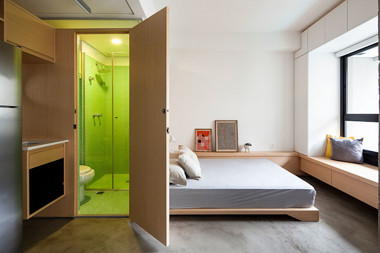 モダンスタイルの寝室 の ODVO Arquitetura e Urbanismo モダン