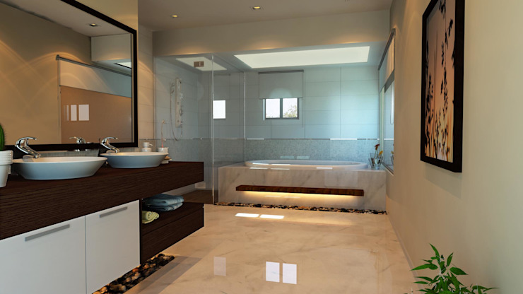 Bathroom Mediterranean style bathrooms by SPACES Architects Planners Engineers Mediterranean