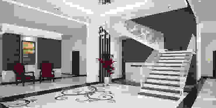Stairs at Basement Mediterranean corridor, hallway & stairs by SPACES Architects Planners Engineers Mediterranean
