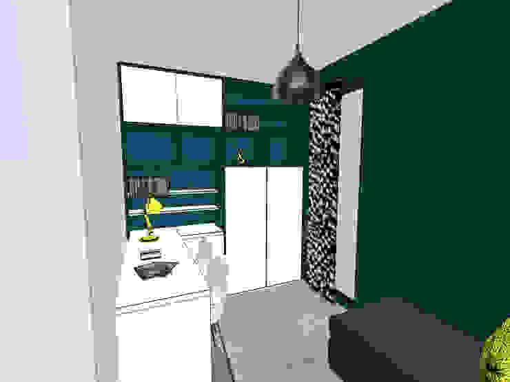 Proposition du projet en 3D Bureau moderne par Scènes d'Intérieur Moderne Bois composite