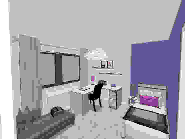 Proposition du projet en 3D Chambre d'enfant moderne par Scènes d'Intérieur Moderne