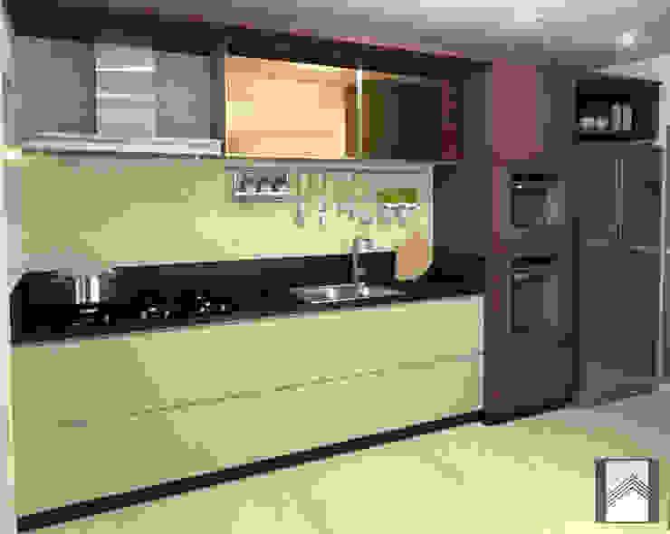 Cozinha Abitarte - Arquitetura e Interiores Cozinhas embutidas MDF Multi colorido