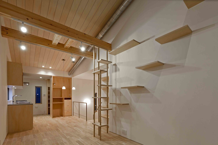 스칸디나비아 거실 by 株式会社 ギルド・デザイン一級建築士事務所 북유럽
