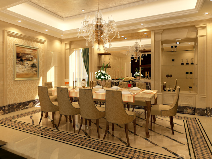 Dining Room Mediterranean style dining room by SPACES Architects Planners Engineers Mediterranean