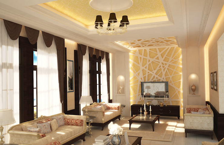 Living Room by SPACES Architects Planners Engineers Mediterranean