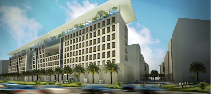 Jeddah Solidere Hotel - Saudi Arabia by SPACES Architects Planners Engineers Modern