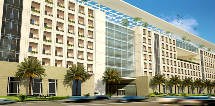 Jeddah Solidere Hotel—Saudi Arabia by SPACES Architects Planners Engineers Modern