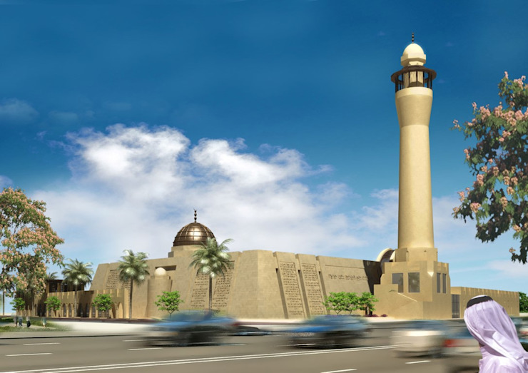 Mosque - Bahrain by SPACES Architects Planners Engineers Mediterranean