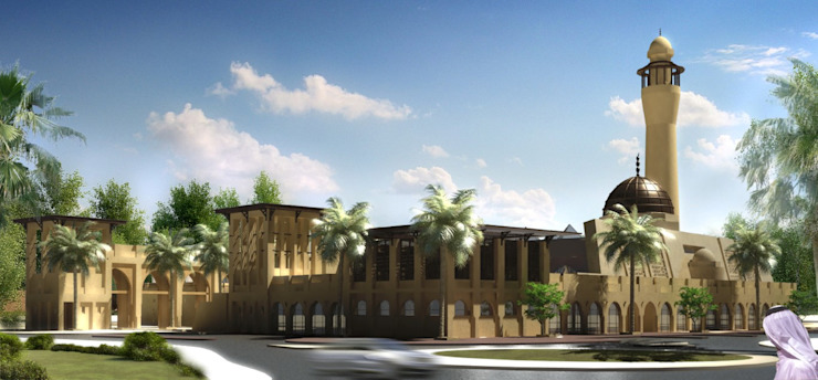 Mosque—Bahrain by SPACES Architects Planners Engineers Mediterranean