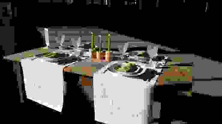 Mesas de Natal Linho de Cerva e Limões Sala de jantarMesas Linho Bege