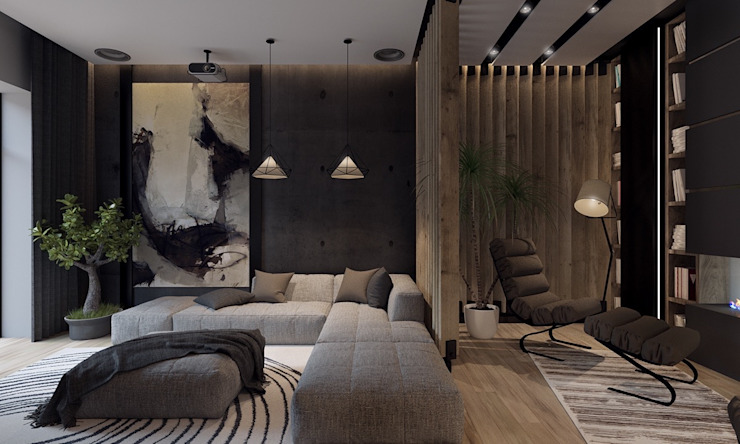 Living room by Gökhan BAYUR, Modern