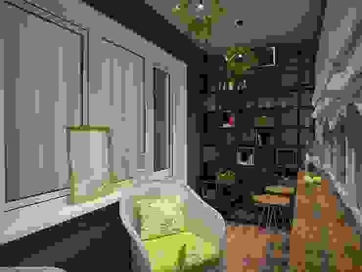 Eclectic style balcony, veranda & terrace by Дизайн Студия Дениса Щеглова Eclectic