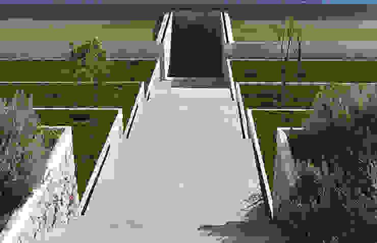 Garden of the São Bernardo Enclosure, Coimbra, Portugal by Margem Arquitectura Paisagista Lda Середземноморський