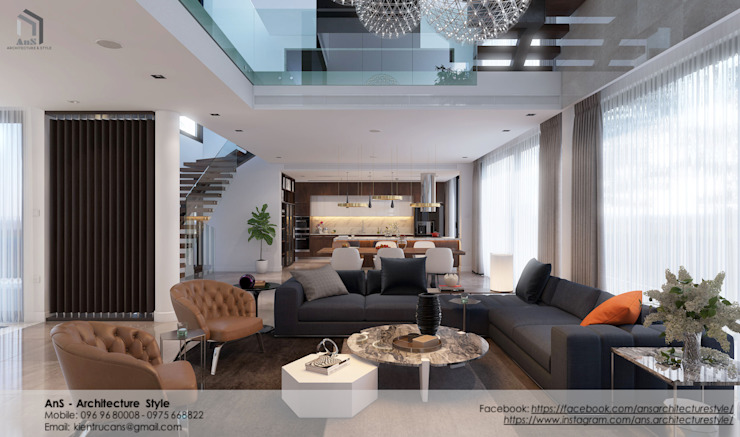 Dự án Biệt thự cao cấp bởi AnS - Architecture Style Hiện đại