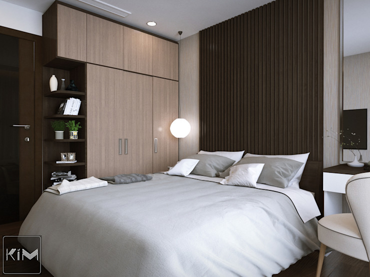 Dự án Five Star Garden Phòng ngủ phong cách hiện đại bởi KIM - furniture Hiện đại