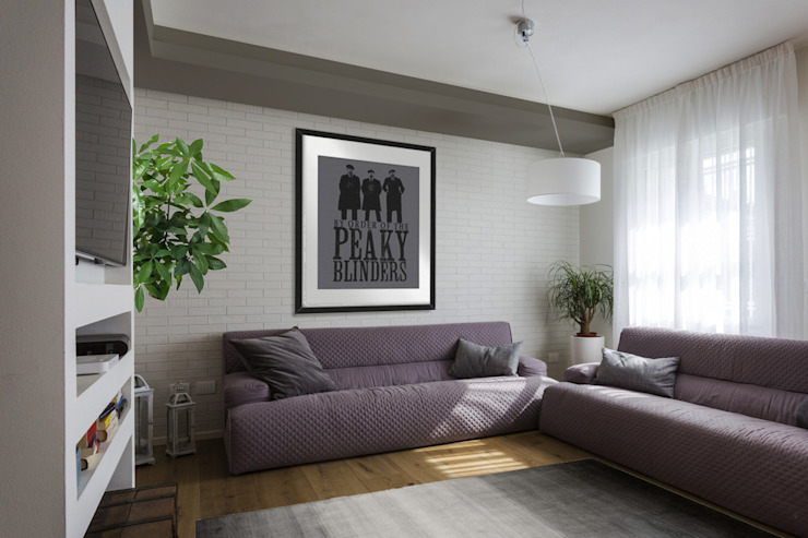 Viu' Architettura Industrial style living room