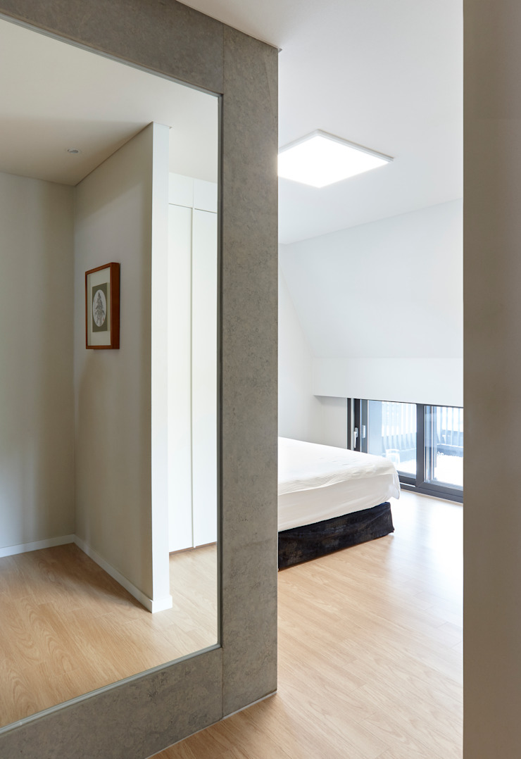 과천 영서현 모던스타일 침실 by 소수건축사사무소 모던