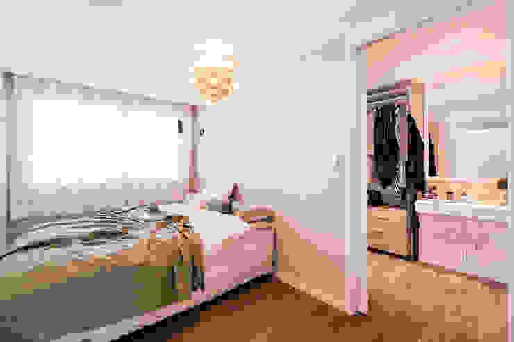 북유럽감성의 따뜻한 공간, 일산건영빌라 스칸디나비아 침실 by 봄디자인 북유럽