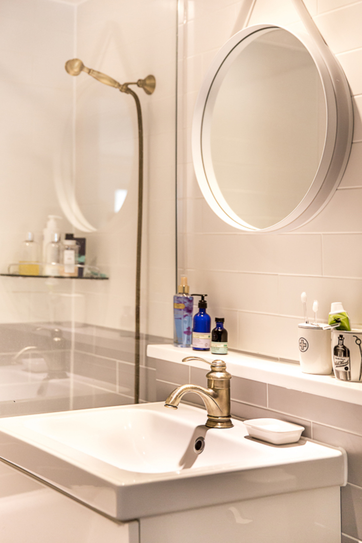 북유럽감성의 따뜻한 공간, 일산건영빌라 스칸디나비아 욕실 by 봄디자인 북유럽