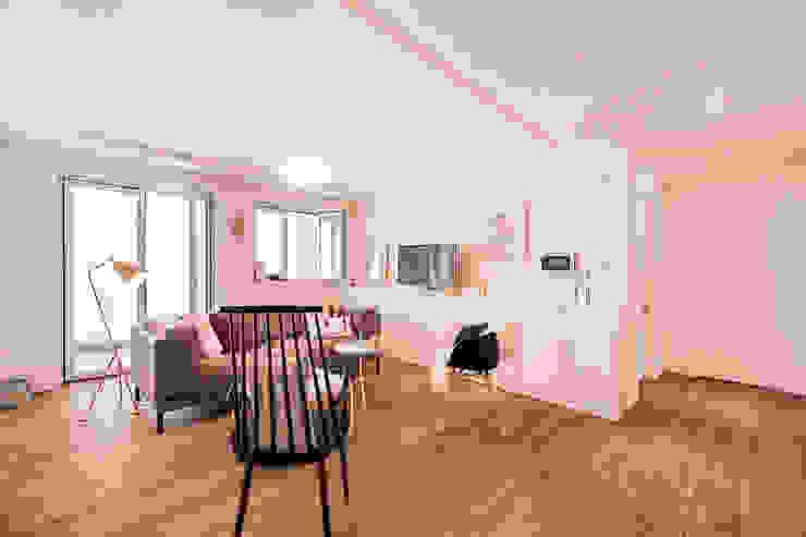 북유럽감성의 따뜻한 공간, 일산건영빌라 스칸디나비아 거실 by 봄디자인 북유럽