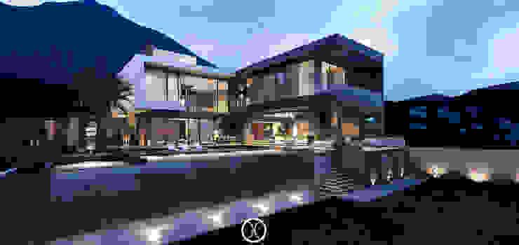 Fachada Posterior. Casas modernas de Nova Arquitectura Moderno