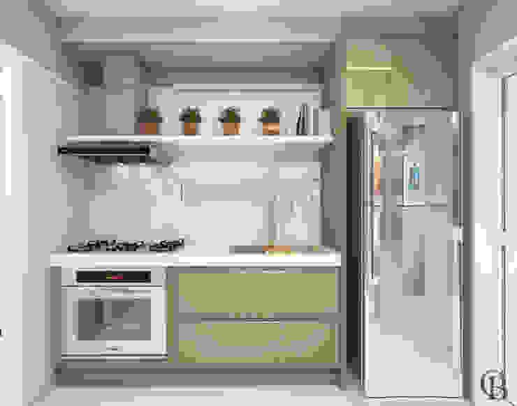 Vista Frontal l Cozinha Cozinhas modernas por Caroline Berto Arquitetura Moderno MDF