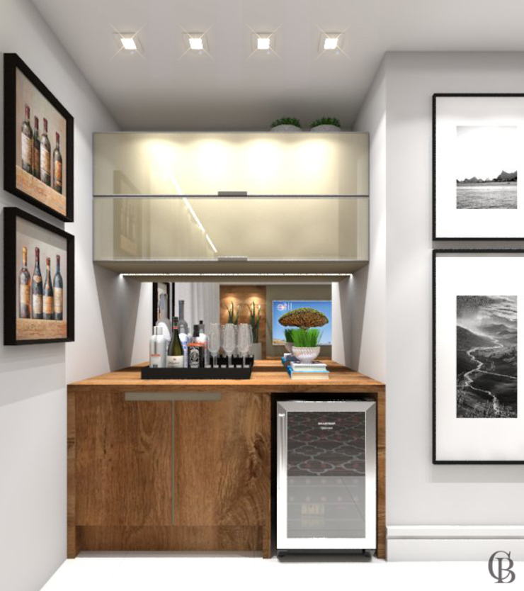 Vista Frontal Adega Adegas rústicas por Caroline Berto Arquitetura Rústico MDF