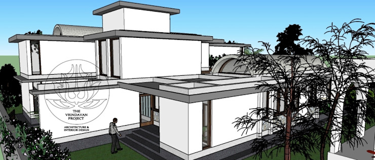 Bhathal Residence by The Vrindavan Project Modern