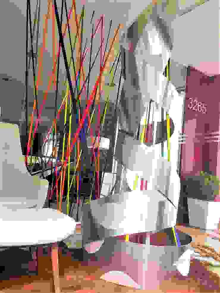 Sgabello Interiores Office spaces & stores Aluminium/Zinc Metallic/Silver