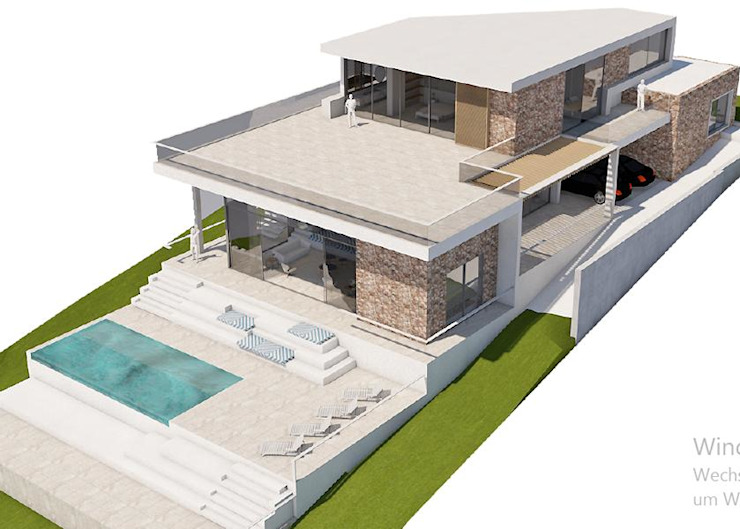 Villas in Ibiza Oleh CW Group - Luxury Villas Ibiza Modern Beton Bertulang