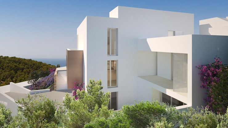 House for sale Ibiza by CW Group - Luxury Villas Ibiza Rustic Concrete
