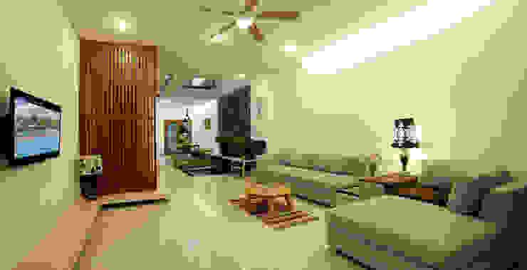 Ruang Keluarga Modern Oleh Công ty TNHH Xây Dựng TM – DV Song Phát Modern