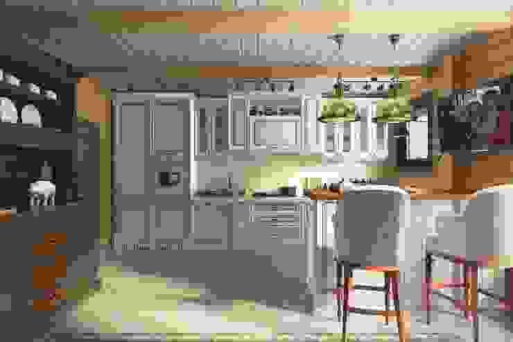 Cocinas de estilo clásico de Diveev_studio#ZI Clásico