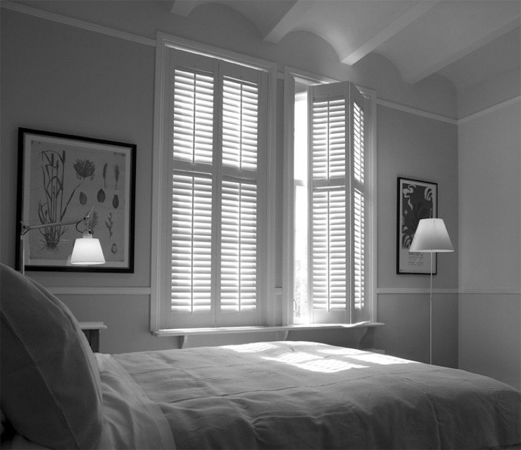 Bedroom Shutters Classic style bedroom by S:CRAFT Classic Tiles