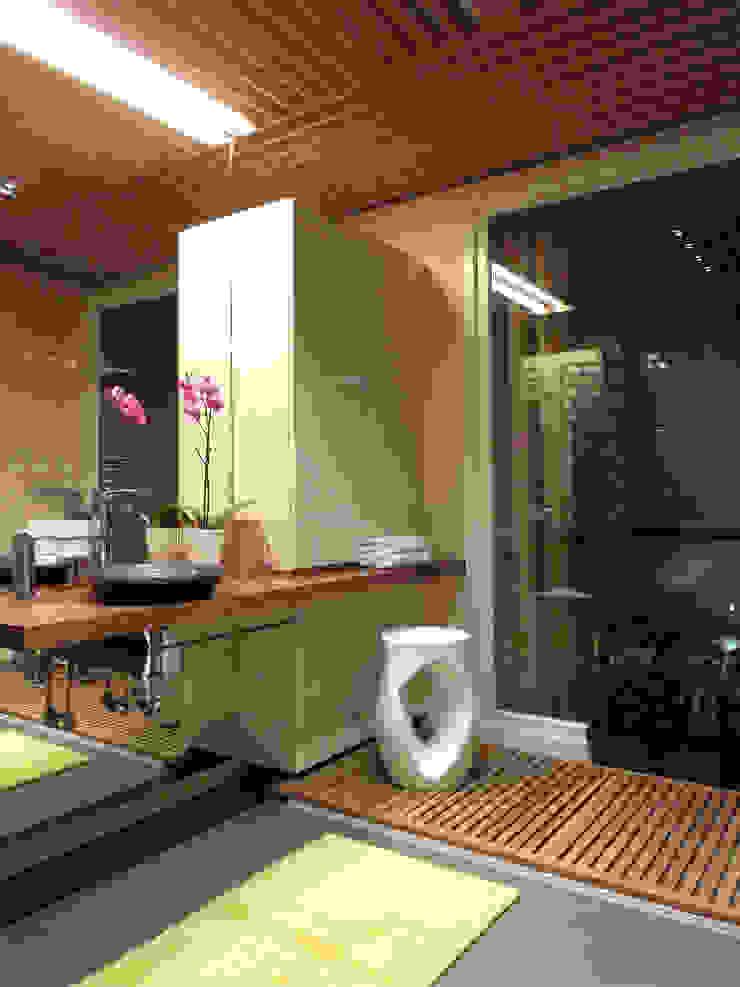 Реализованный проект ванной комнаты в историческом здании г. Москва Ванная комната в стиле минимализм от ID project Минимализм