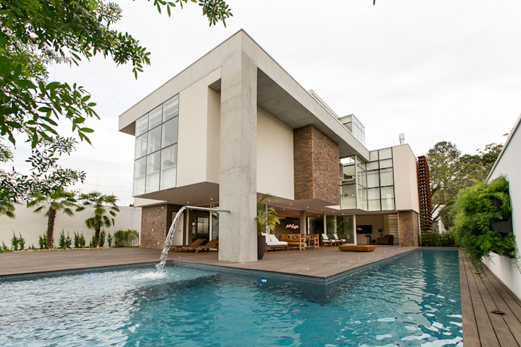 Maisons modernes par Guaraúna Revestimentos Moderne Briques