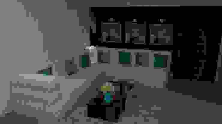 Sofá em L Modern Living Room by STUDIO SPECIALE - ARQUITETURA & INTERIORES Modern Slate
