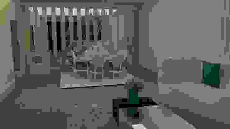 Sala moderna detalhes azul turquesa Modern Living Room by STUDIO SPECIALE - ARQUITETURA & INTERIORES Modern Iron/Steel