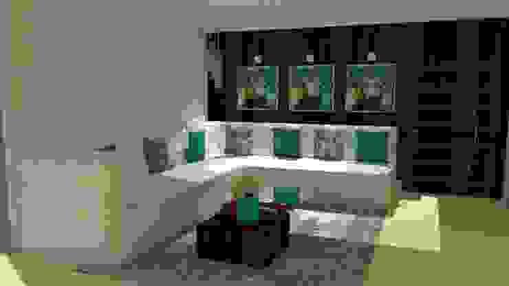 Sofá em L Modern Living Room by STUDIO SPECIALE - ARQUITETURA & INTERIORES Modern Concrete