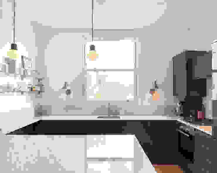 Kilburn Chimney Flat Modern kitchen by Collective Works Modern