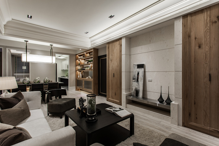 《聚‧日常》 现代客厅設計點子、靈感 & 圖片 根據 辰林設計 現代風