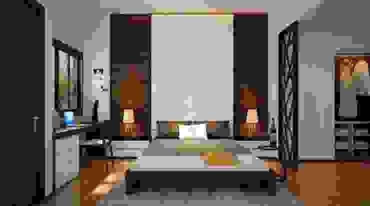 Phòng ngủ ấm áp Phòng ngủ phong cách châu Á bởi Công ty TNHH TK XD Song Phát Châu Á Đồng / Đồng / Đồng thau