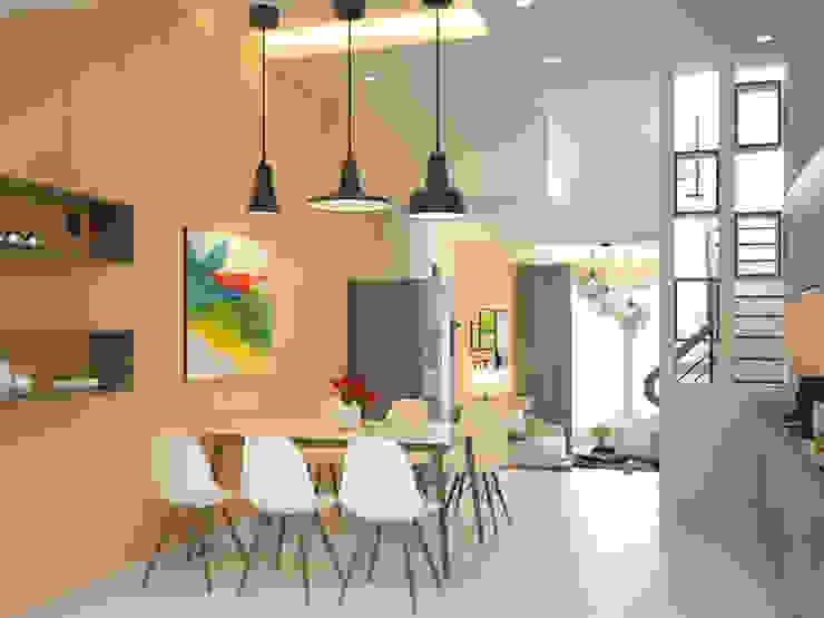 Không gian phòng bếp thoáng mát Phòng ăn phong cách hiện đại bởi Công ty TNHH Xây Dựng TM – DV Song Phát Hiện đại
