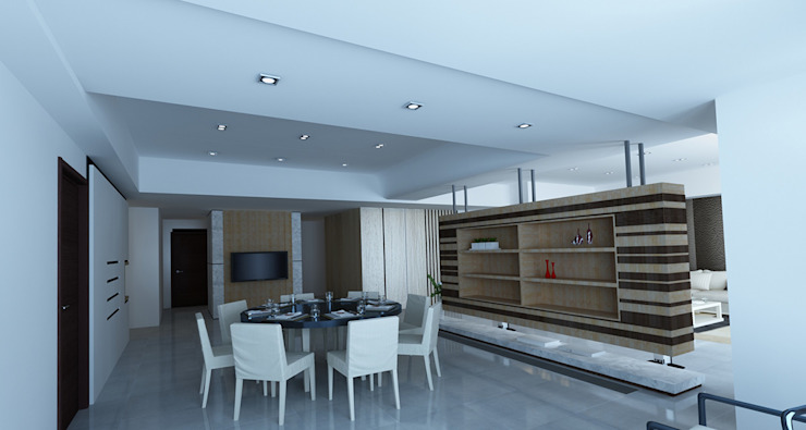 project-3002 Modern Dining Room by YU SPACE DESIGN Modern Wood Wood effect
