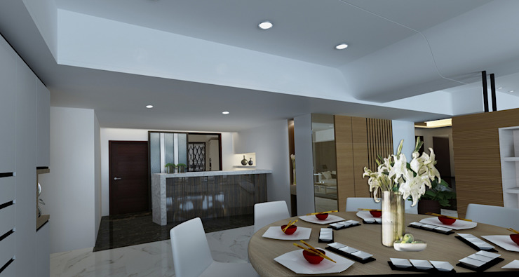 project-3002 Modern Dining Room by YU SPACE DESIGN Modern Quartz