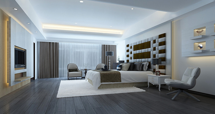 project-3002 Modern Bedroom by YU SPACE DESIGN Modern Wood Wood effect