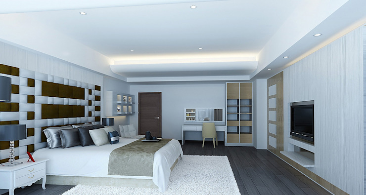 project-3002 Modern Bedroom by YU SPACE DESIGN Modern Engineered Wood Transparent
