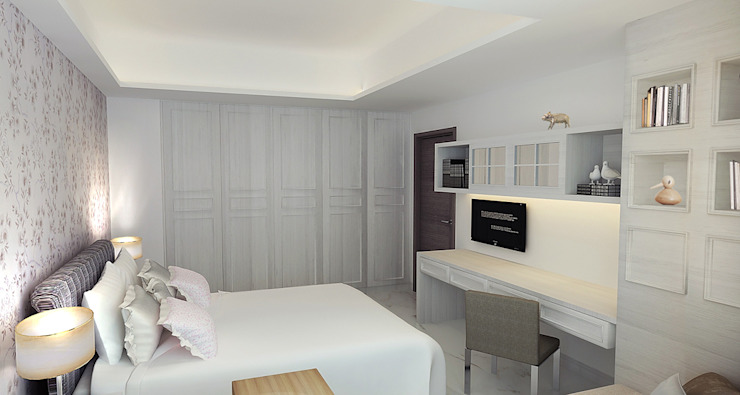 project-3002 Modern Bedroom by YU SPACE DESIGN Modern Wood-Plastic Composite